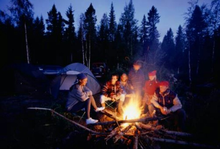 Love sitting around a campfire | camping | Pinterest