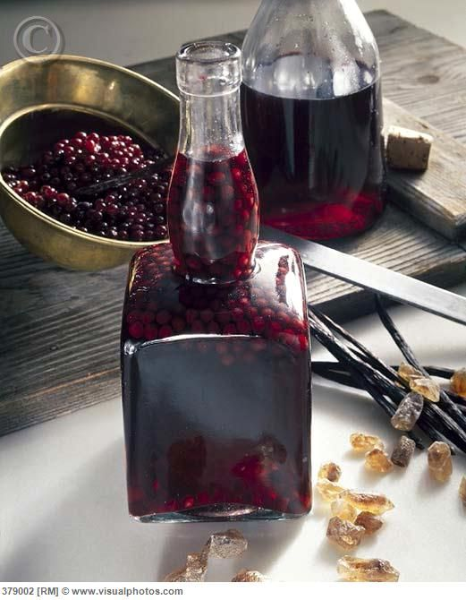 Homemade elderberry liqueur