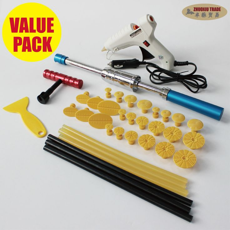 slide hammer pdr glue puller squeeze pulling tabs kit suction cups paintless dent repair lifter tools metal sheet pulling garage