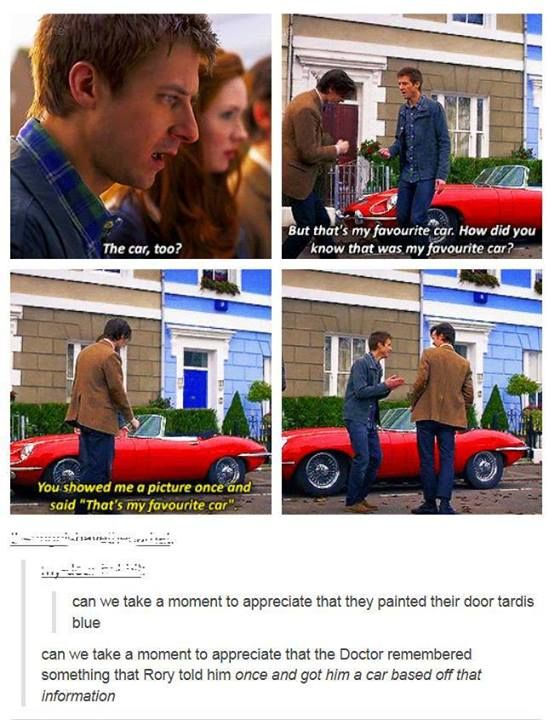 I feel like everyones so focused on Amy and Eleven or Amy and Rory, that they forget that the Doctor and Rory were also best friends, and you know what breaks my heart, he never got to say goodbye.