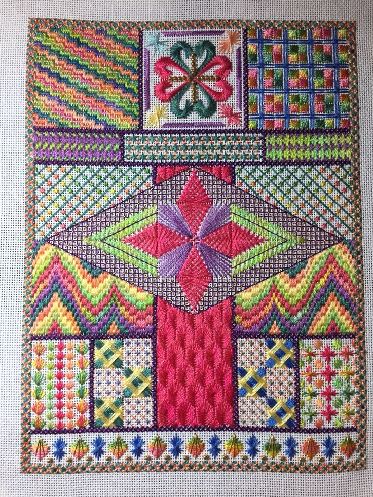 Needle point work done while in Perth visiting Tania