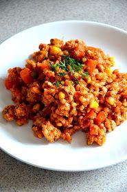 Fit jest Git: Mięso mielone w sosie pomidorowym z kaszą i warzywami