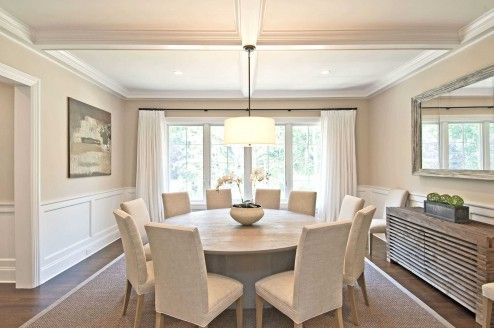 Furniture, Luxury Dining Room Decoration With White Modern Expandable Round Dining Table With Side Chairs Under Fixture Pendant Light Design Ideas ~ Vintage Expandable Round Dining Table Adding More Elegance