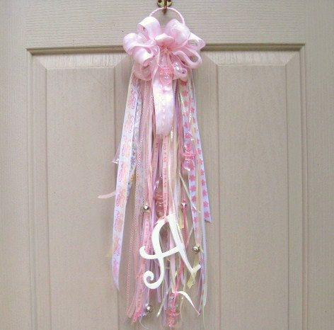 Baby Door Mum Baby Decor Baby Girl Nursery by AWorkofHeartSA, $25.00; think you can do this for less, of course, must be trying to make a profit.:)