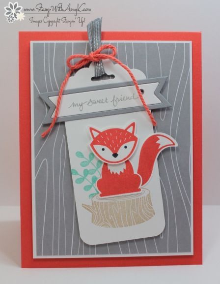 Stampin' Up! Foxy Friends for Sunday Stamps (Stamp With Amy K)