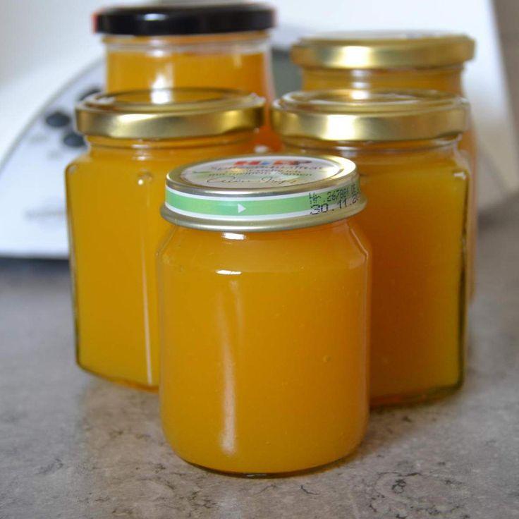 Rezept Mango-Pfirsich Marmelade von Cindy86 - Rezept der Kategorie Saucen/Dips/Brotaufstriche
