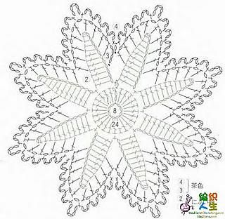 snowflakes crochet 239 schema