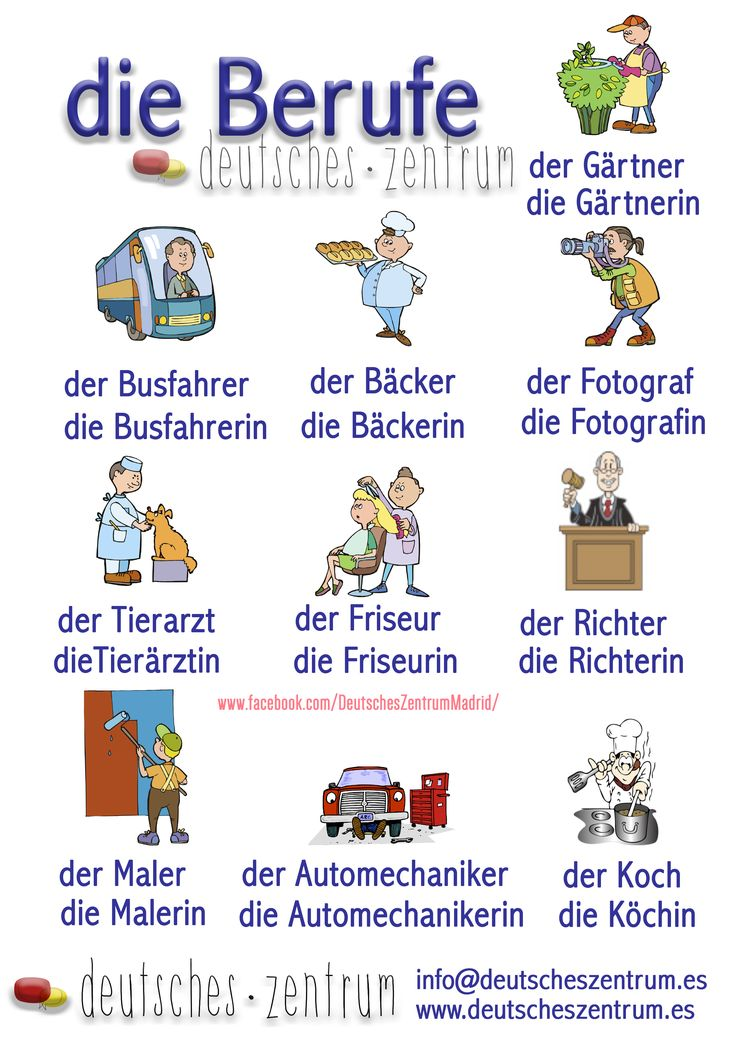 Berufe Deutsch Wortschatz Grammatik Alemán German DAF Vocabulario
