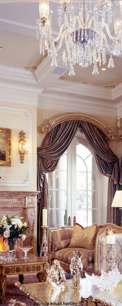 Arched Cornice Amp Double Layer Of Drapery Panels Drapes