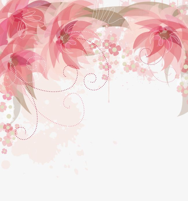 35+ Latest Background Pink Flower Vector Png