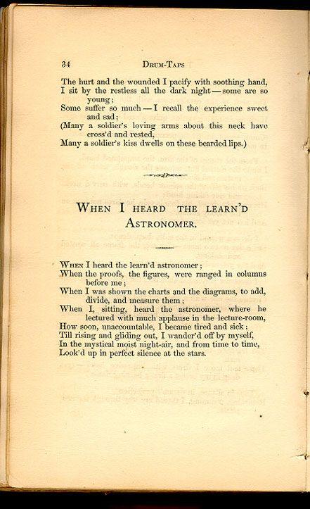 astronomy poem walt whitman - photo #7