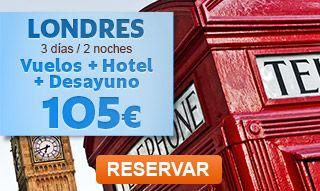 VUELO + HOTEL BCN-LONDRES 3 D/2 N DESDE 105 EUR.Precio dese, por persona en base a habitación doble en el hotel Holiday Inn Chingford 3*. Salida el 26 de septiembre de 2014 desde Barcelona. Oferta sujeta a disponibilidad.  #OfertasDestinia #Londres #London