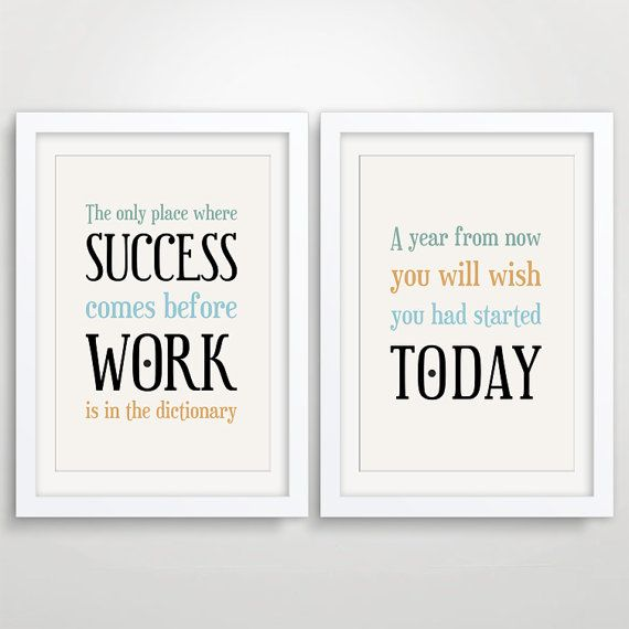 Large Office Decor Typography Posters Inspirational Quote