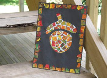 Patchwork acorn kid crafts pinterest mosaics mosaic for How to preserve acorns for crafts