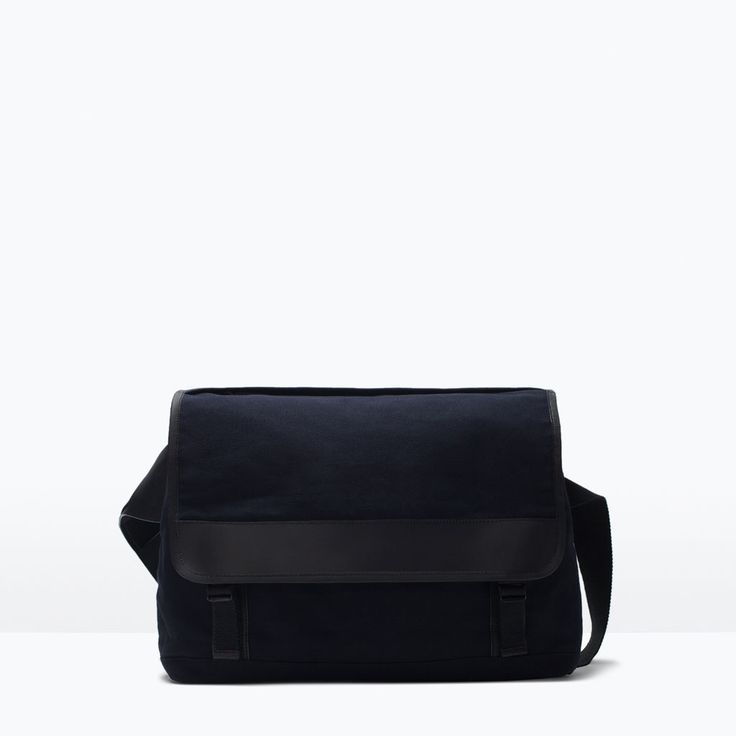 ZARA - SHOES & BAGS - COMBINED DENIM MESSENGER BAG