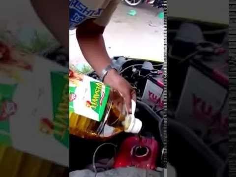 Minyak kelapa isi dalam enjin kereta?
