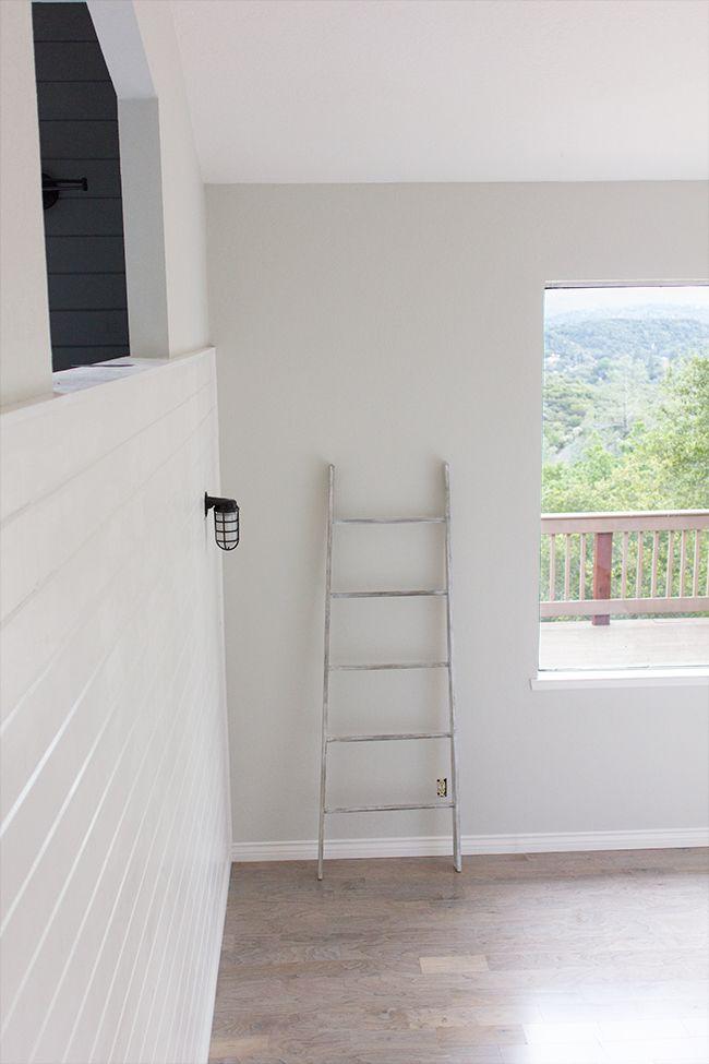 New Laundry Room: Painted Wood Ceiling | Jenna Sue Design BlogValspar's Montpelier Madison White