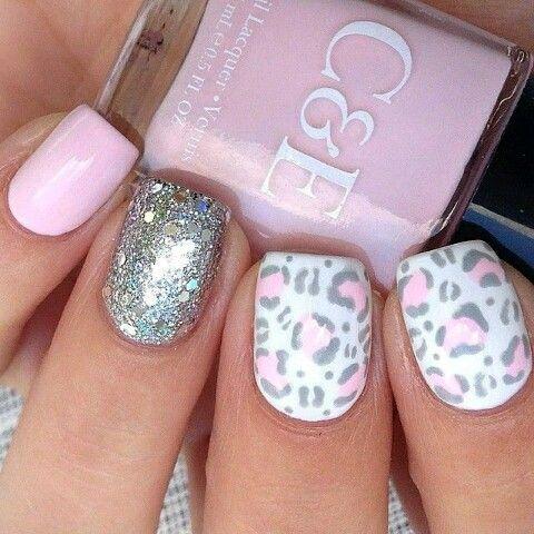 Pink Leopard Nail Art 2015