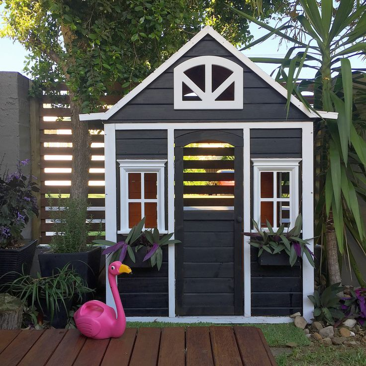 Kmart Cubby House Hack with Black and White Exterior