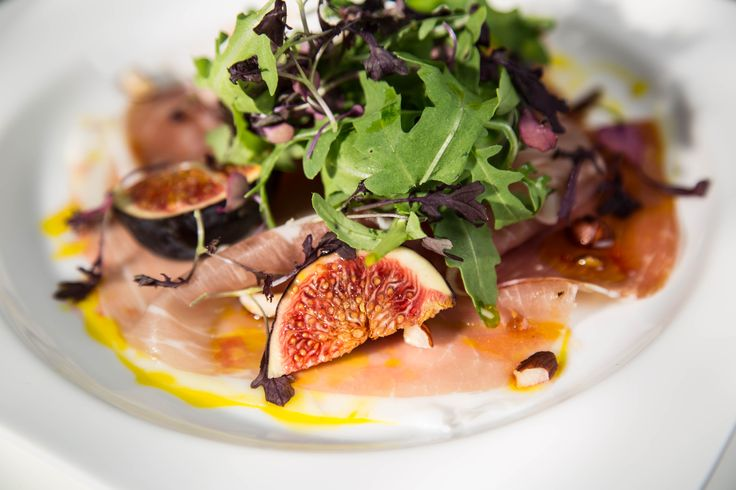 Parma ham and fig starter with hazelnuts & Sussex cold pressed rapeseed oil #starter #menu #recipe #inpiration #wedding #dinnerparty #events