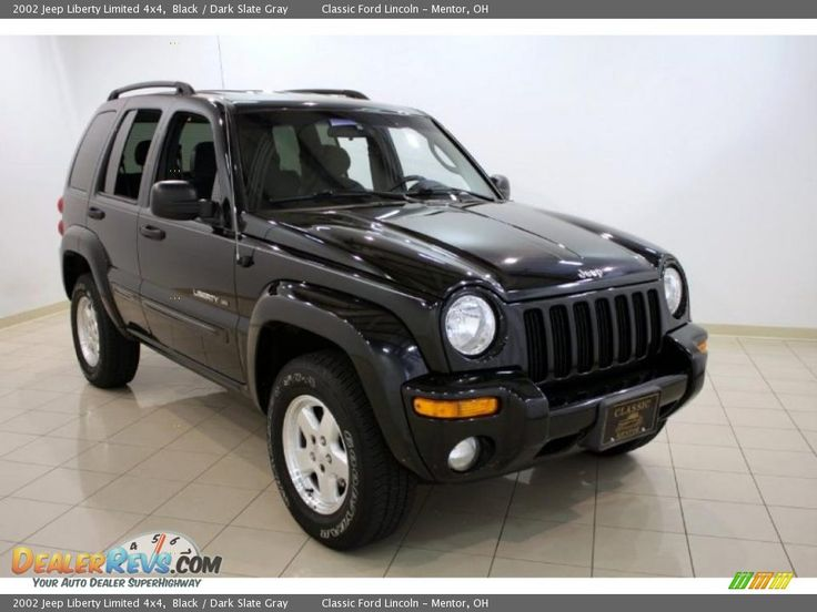 2002 Jeep Liberty Limited 4x4 Black / Dark Slate Gray