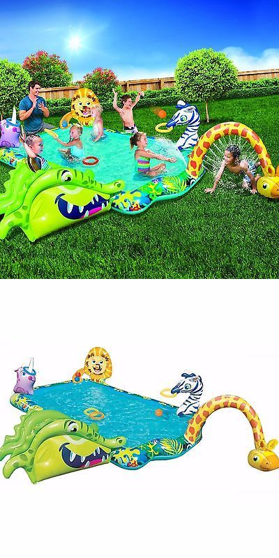 Inflatable and Kid Pools 116407: Swimming Pool For Kids Outdoor Inflatable Kiddie Pools Water Fun Splash Activity -> BUY IT NOW ONLY: $64.99 on eBay!