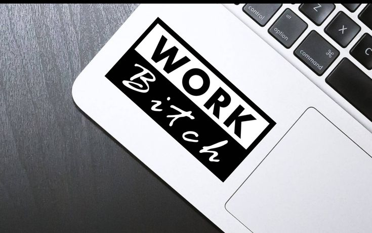 Sticker, Macbook decal, Laptop decal, iphone decal, Work Bitch, Boss Babe, Macbook Sticker, Laptop sticker, iphone sticker, decal by SexyandMotivated on Etsy