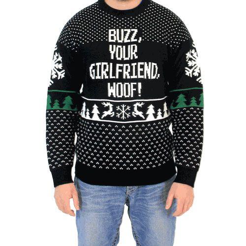 Buzz, Your Girlfriend, Woof! Sweater #uglychristmassweater afflink