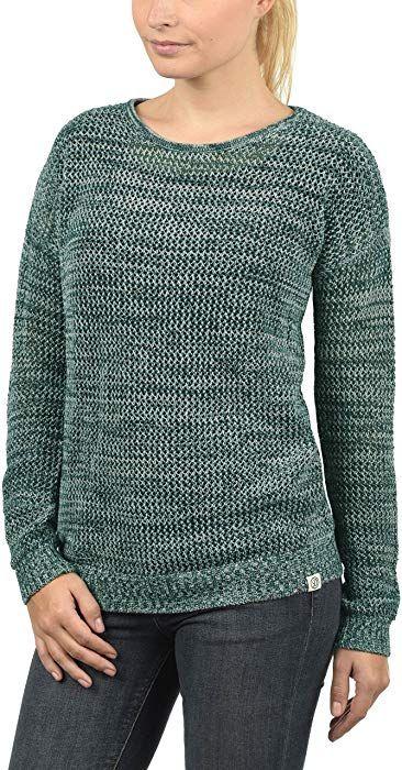DESIRES Lea Damen Strickpullover Feinstrick Pullover Mit Lochstrickmuster  Und Rundhals Aus 100% Baumwolle Loose Fit fe349e2186