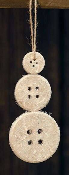KP Creek Gifts - Glittering Button Snowman Ornament, 6""