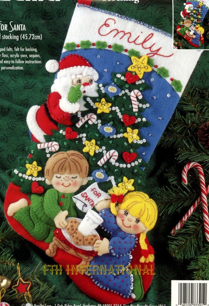 Bucilla Cookies For Santa 18 Felt Christmas Stocking Kit 83391