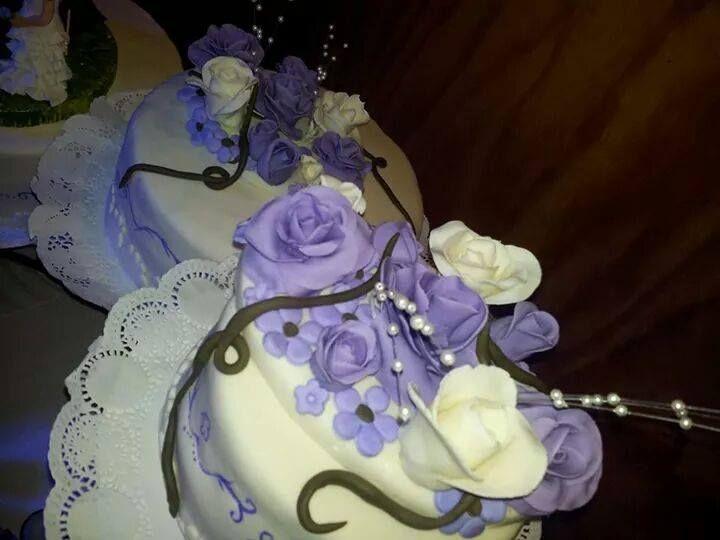 delicadas y diferentes rosas color lila & blanco