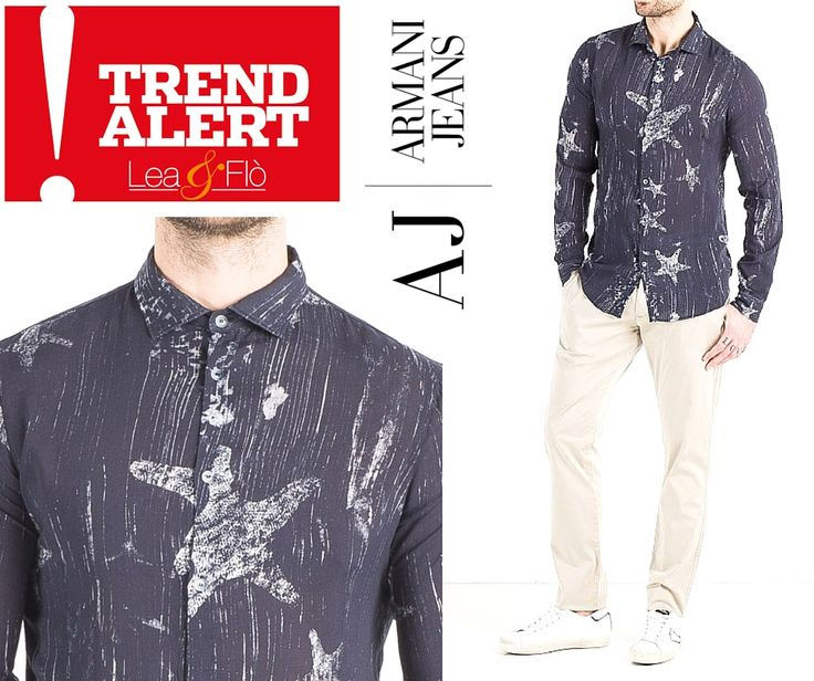 """#TRENDalert! Latest trends in *** #MANfashion *** Printed or mandarin collar #SHIRTS  Perfect for casual summer evening with friends or a walk in the city center! Today we want to show you Armani Jeans's """"sea"""" line with #Starfish and #Shells prints, and the Henry Cotton's Linen #MandarineCollar line. Come and discover all the styles at our Lea & Flò boutiques!"""