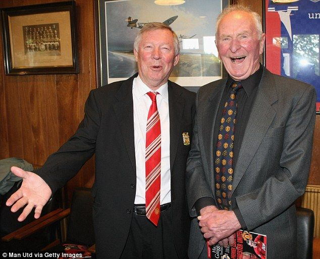 Meeting your hero: Sir Alex Ferguson poses with Gregg in Belfast