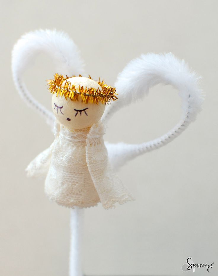 Vintage style pipe cleaner angel ornament beautiful and for Beautiful diy christmas ornaments