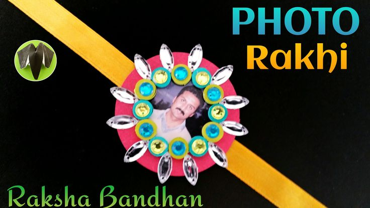 Photo Rakhi Bracelet for Raksha Bandhan - Design 8 - DIY | Handmade - Tu...