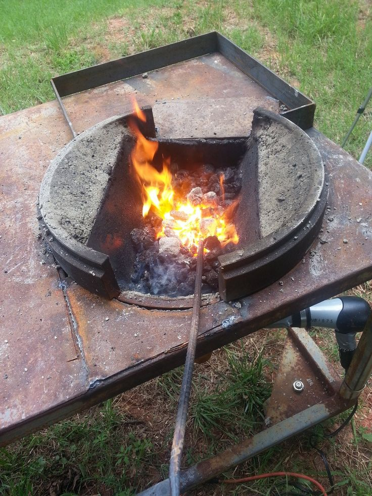 Build a Large Brake Drum Forge with Fire Pot
