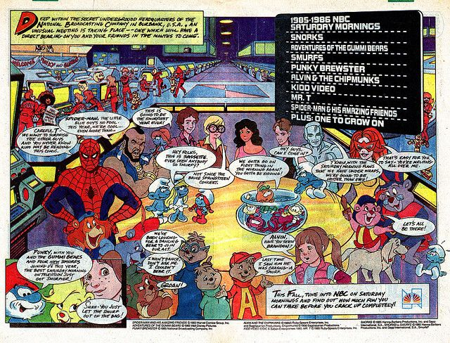 Nbc S 1985 Saturday Morning Cartoon Line Up Gummy Bears