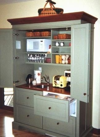 Elegant Armoire Hospitality Centers U0026 Working Pantries | YesterTec Kitchen Design  Company
