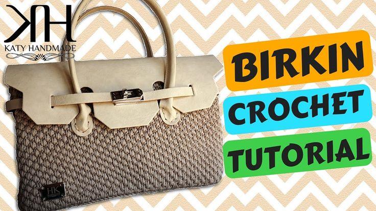 "Tutorial borsa ""Birkin"" uncinetto | How to make a crochet bag || Katy Ha..."