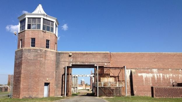 The guard towers and penitentiary walls at the former Lorton Prison site will remain intact after construction, save for a few adjustments such as additional entrances.