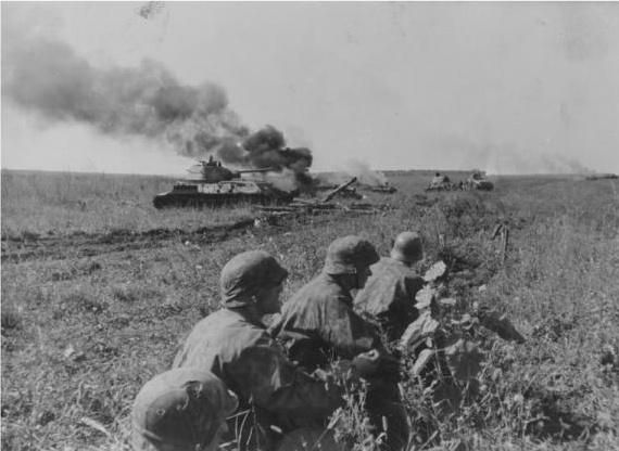 The Soviet Lower Dnieper Offensive (August 24 1943 – December 23 1943) was one of the costliest operations of World War II. The Soviet casualties are estimated at being from 1,200,000 to 1,500,000 (300,000 to 550,000 killed). German losses, however, are more difficult to evaluate. The simple rule of 3:1 losses.   Image: SS-Panzerjägers (tank hunters) next to a destroyed T-34