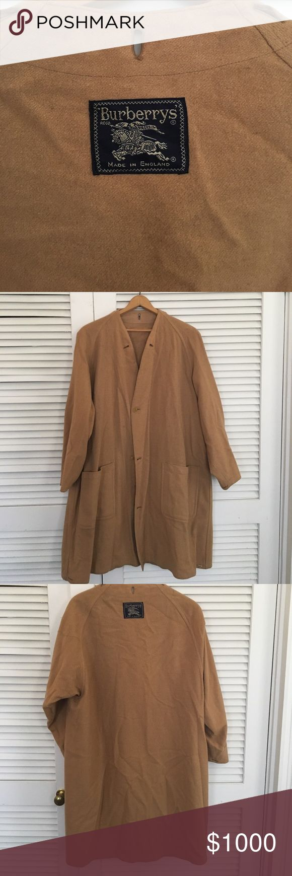 Vintage Burberry tan wool overcoat Original Burberry overcoat from the 1950's. Tan wool and extra large. Very good condition. Burberry Jackets & Coats Trench Coats