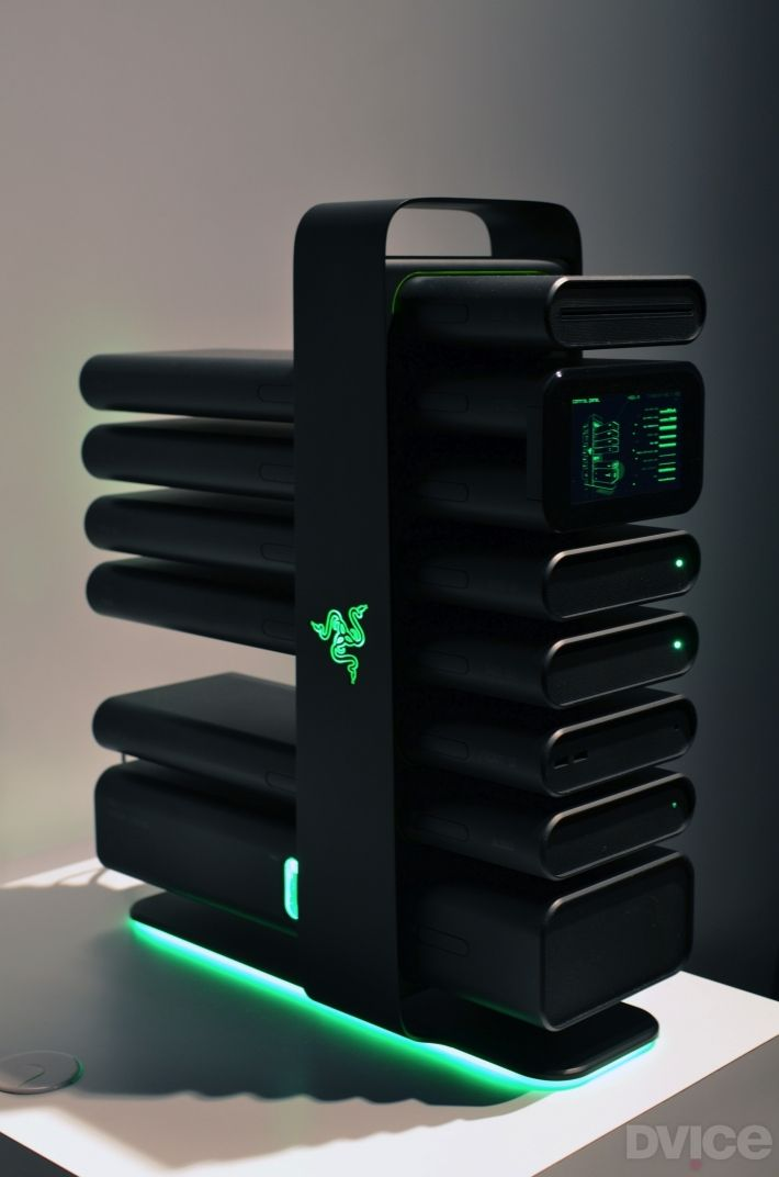 Razer reveals futuristic modular gaming PC, sleek Nabu smartband | DVICE