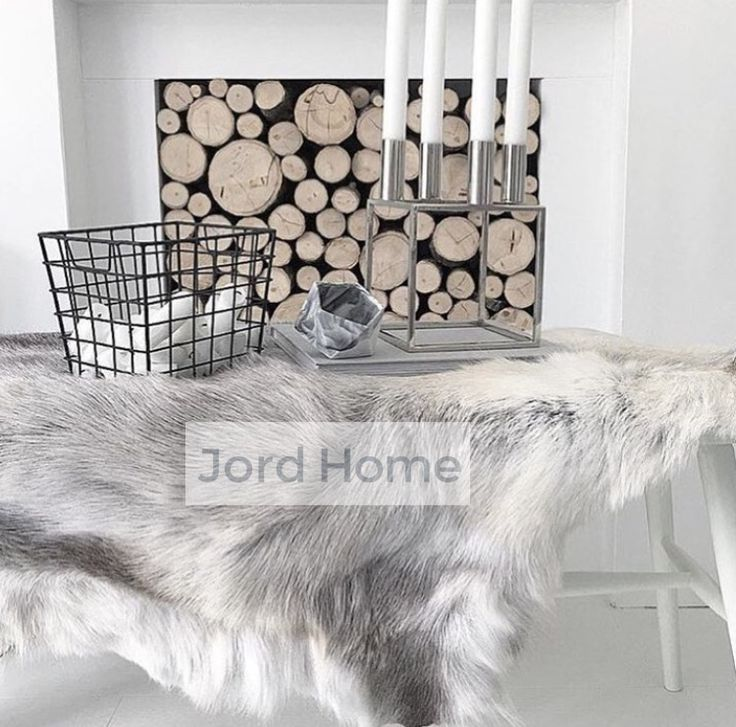 stunning grey reindeer hide beautifully captured in our friend home available at wwwjordhome