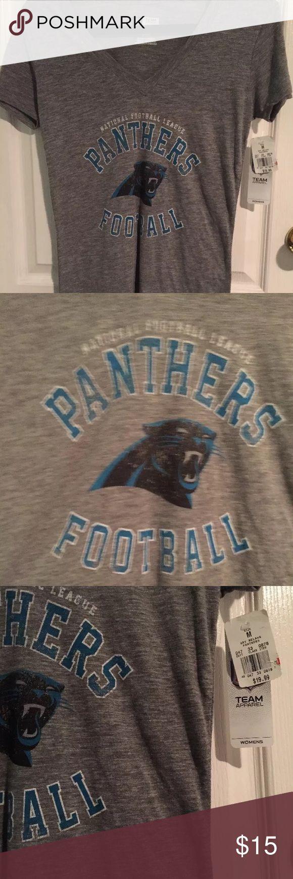 NWT Carolina Panthers Grey VNeck size medium NWT Carolina panthers NFL vneck grey. NFL Apparel Tops Tees - Short Sleeve