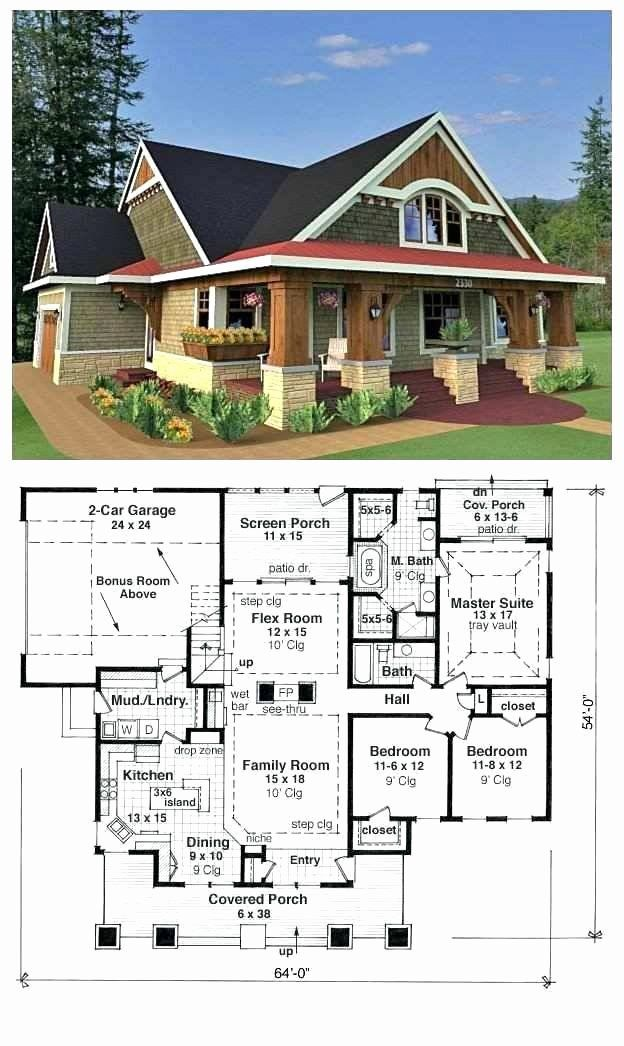 Mission Style House Plans Fresh Extraordinary Small Prairie Style House Plans Craftsman Plan In 2020 Craftsman House Plans Courtyard House Plans Craftsman House