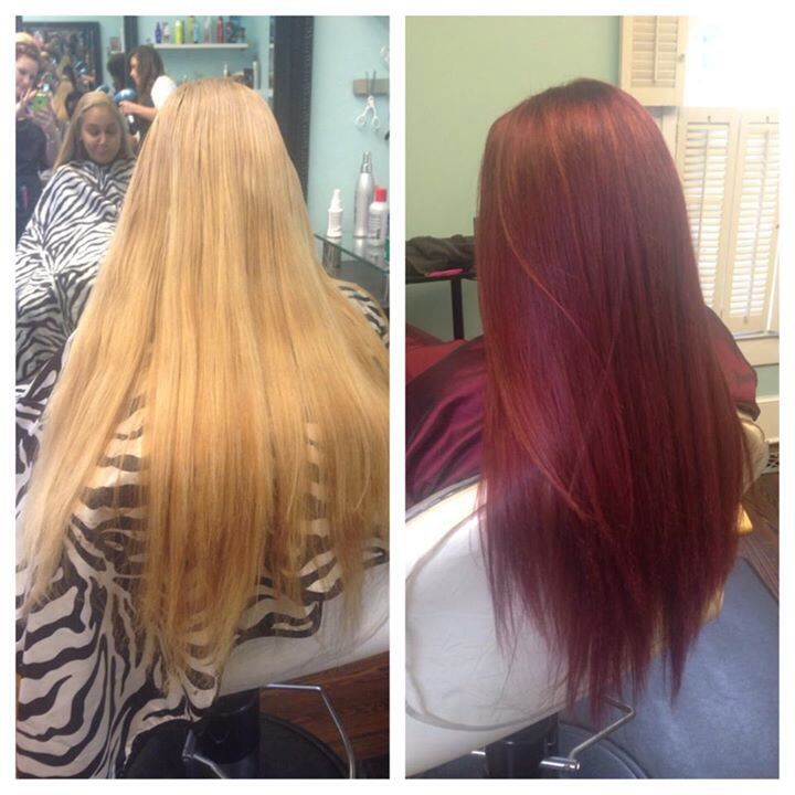 Before And After Blonde To Red By Hillary Sapp Our