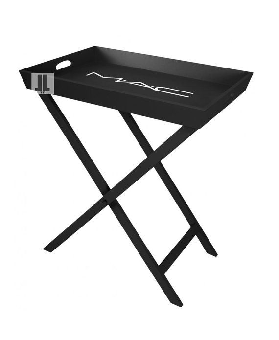 MAC make up vanity tray table  Black Foldable  24x16x2 by LuxeLots