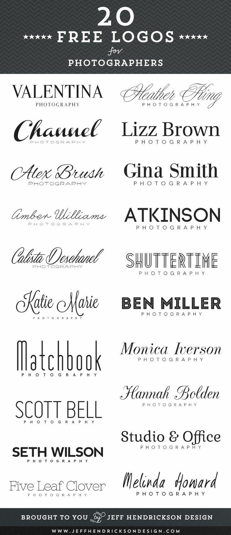 20 Free 12 Granny Square Crochet Patterns: 20 Free Photographer Logos Using Free Fonts.